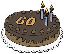 Stock Illustration of Chocolate birthday cake