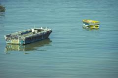 Abandoned boats Stock Photos