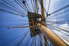 Rigging above - stock photo