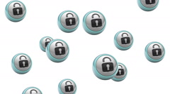 Falling lock icons. Looping. Alpha channel is included. Stock Footage
