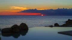 Time Lapse sunset on the Caribbean Sea. Stock Footage