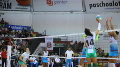 Volleyball game. Competition. Women Game Stock Footage