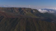 Haleakala Crater, Maui, Hawaii Stock Footage