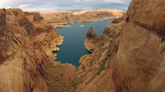 Lake Powell near Hole in the Rock Escalante Utah Landscape Stock Footage