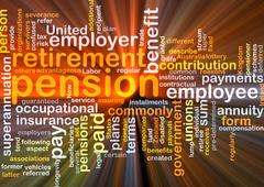 Pension background concept glowing - stock illustration