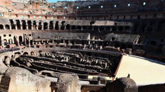 4K, UltraHD Timelapse of the interior of the Colosseum in Rome Stock Footage