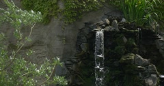 Waterfall, Windy Weather, Sprinkled Water,Artificial rock Stock Footage