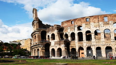4K, UltraHD Timelapse of the side of the Colosseum in Rome Stock Footage