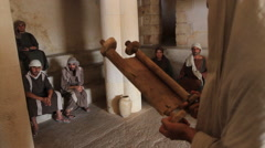 Jesus Teaching in the Synagogue, Biblical Reenactment - stock footage