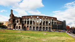 4K, UltraHD Timelapse of the exterior of the Colosseum in Rome Stock Footage