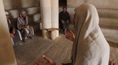 Jesus Teaching His Disciples, Biblical Reenactment Stock Footage