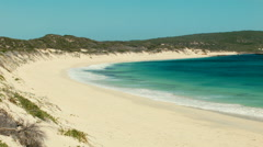 Looking Down A Beach in Australia's South West Stock Footage