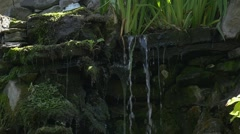 Little Flows From The Waterfall, Through The Stones and Grass' Roots, Slow - stock footage