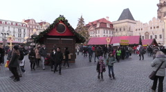 Christmas time in Prague Stock Footage