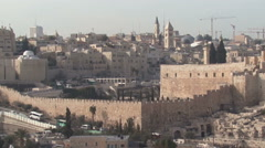 Panorama. Old city. Jerusalem. Stock Footage