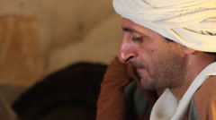 Biblical Character Listens to Rabbi, Biblical Reenactment Stock Footage