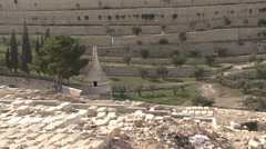 The cemetery in the old town. Kidron Valley. Stock Footage