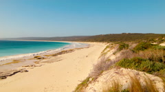 Looking Down The Dunes Along Hamelin Bay Beach in Australia's South West Stock Footage