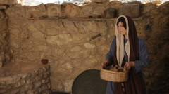 Marry Drawing Water from the Well, Biblical Re-enactment Stock Footage