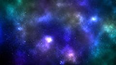 galaxy space nebula background - stock illustration
