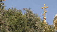Garden of Gethsemane. Church of St. Mary Magdalene. Stock Footage