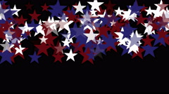 4k Stars particle background,USA United States American flag five-pointed star. - stock footage