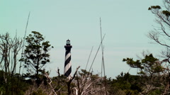 Cape Hatteras lighthouse North Carolina Stock Footage