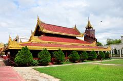 Mandalay Palace in Mandalay, Myanmar. Stock Photos
