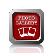 Photo gallery icon. Internet button on white background. Piirros