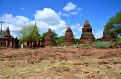 Ancient City in Bagan (Pagan), Myanmar with over 2000 Pagodas and Temples. - stock photo