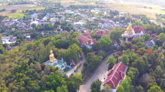 Aerial view shot Wat doisaket Stock Footage