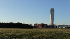 Stock Video Footage of Turning Torso Building Malmo Sweden 5