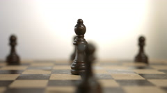 Rotating Black Bishop Chess Piece - stock footage