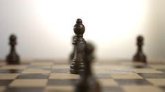 Rotating Black Bishop Chess Piece Stock Footage