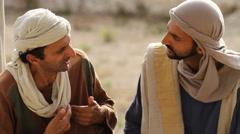 A Disciple Responds to Jesus, Biblical Reenactment Stock Footage