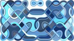 Stylish colorful mosaic pattern Stock Illustration
