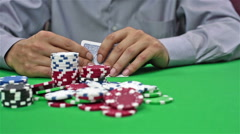 Gambler Takes Casino Jackpot Stock Footage