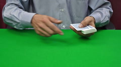 Dealer dealing cards Stock Footage