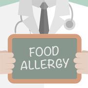 Food Allergy Medical Board - stock illustration