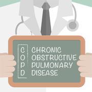 Medical Board COPD Stock Illustration