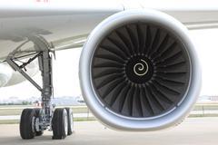 Jet Airplane Engine Stock Photos