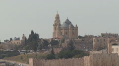 Towers of Old Town. Jerusalem. - stock footage