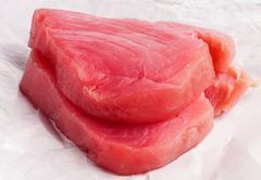 Fresh Tuna Fish steak - stock photo