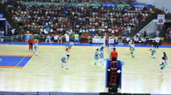 Volleyball game. Competition. Games. - stock footage