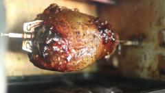 Toaster Oven Rotisserie Roasting Stock Footage