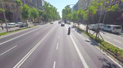 BARCELONA, POV, driving on the streets of the city, steadicam. Stock Footage
