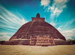 Jetavaranama dagoba  (stupa). Anuradhapura, Sri Lanka Stock Photos