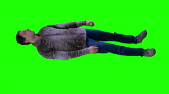 Man in wool sweater is terrified - stock footage
