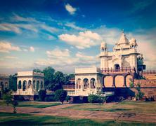 Jaswanth Thada mausoleum, Jodhpur, Rajasthan, India Stock Photos