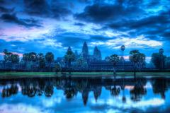 Stock Photo of High dynamic range (hdr) image of Angkor Wat - famous Cambodian landmark - on